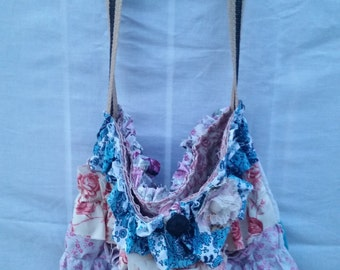 shabby ruffled bag
