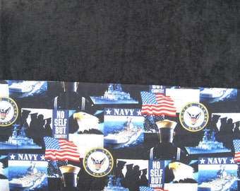 Navy Golf Towel, Black Velour Terry Golf Towel, Military Ladies or Mens Golf Towel, Sports Towel, Golf Gift, Fathers Day Gift