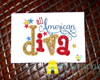 4th of July Applique Design Embroidery