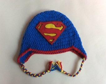 Superman Inspired Crochet Hat