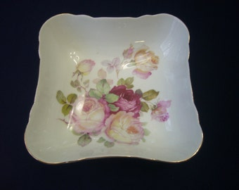 Vintage Schumann Arzberg Bavaria, Floral Square bowl.