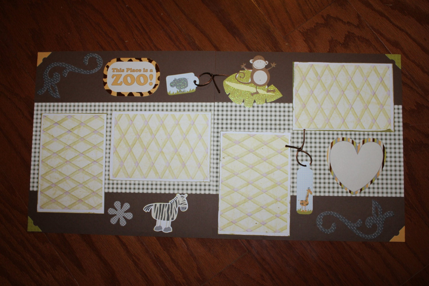 Scrapbook ideas zoo - Sold By Creationsbycindyg