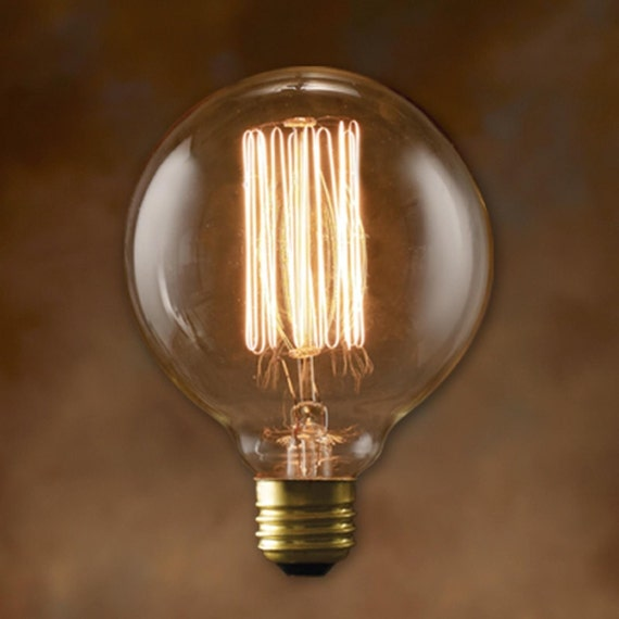 Globe style Edison light bulb