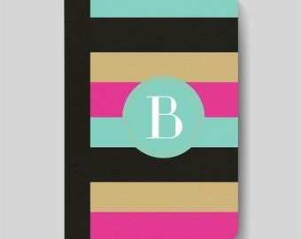 iPad Folio Case, iPad Air Case, iPad Air 2 Case, iPad 1 Case, iPad 2 Case, iPad 3 Case, iPad Mini - Bold Striped Monogrammed iPad Case