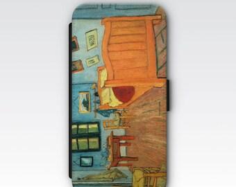 Wallet Case for iPhone 8 Plus, iPhone 8, iPhone 7 Plus, iPhone 7, iPhone 6, iPhone 6s, iPhone 5/5s - Bedroom in Arles Van Gogh Case