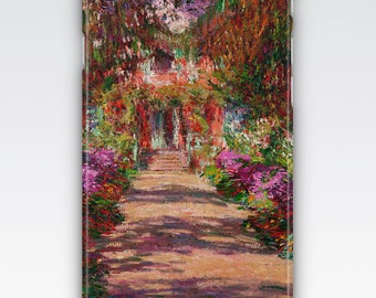 Case for iPhone 8, iPhone 6s,  iPhone 6 Plus,  iPhone 5s,  iPhone SE,  iPhone 5c,  iPhone 7  - The Garden Path at Giverny by Monet