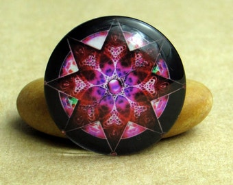 10pcs Colorful Kaleidoscope Handmade Glass Photo Cabochons, 8mm - 30mm, Handcraft Accessories 0045-3