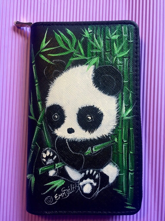 Women wallet with hand painted baby PANDA Ask a question US$48.99