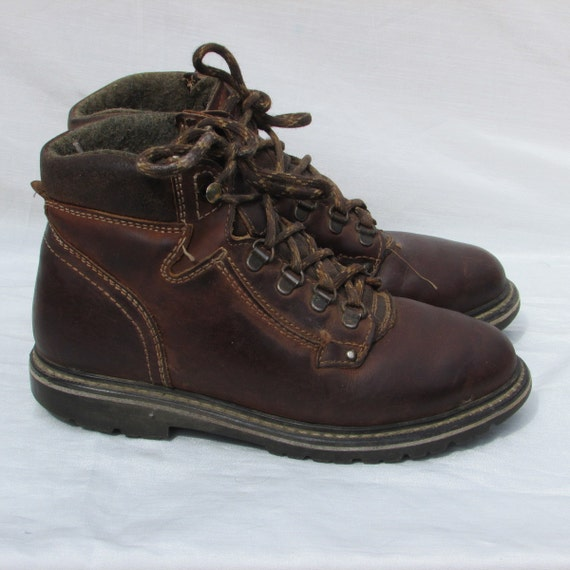 Size 7 PROSPECTOR Hiking Boots Brown Leather Boots Ankle