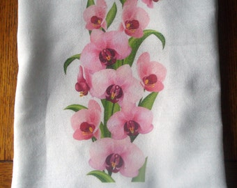 Orchid Flour Sack Kitchen Towel
