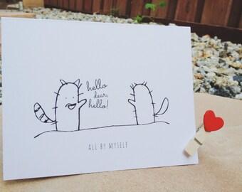 All By Myself Greeting Card w/ Envelope