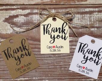 Thank you favor tags, Personalized tags, Wedding favor tags, Wedding gift tags, Small favor tags, Custom tags