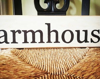 Farmhouse sign, Wooden wall art, Farmhouse style, Handpainted sign, Rustic home decor, Kitchen sign, Shabby Chic decor, Distressed long sign