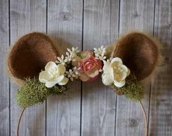 Bear/Lion Ear Woodland Headband