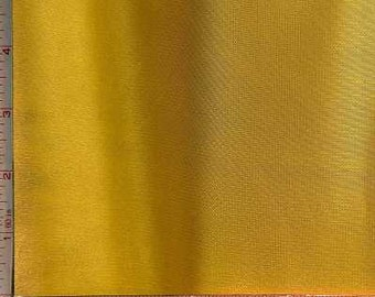 Yellow 70 Denier Shiny Interlock Fabric 2 Way Stretch Polyester 6 Oz 58-60""