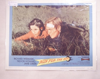 Richard Widmark -Jane Greer- ORIGINAL Lobby Card 11x14- Run For The Sun 1956