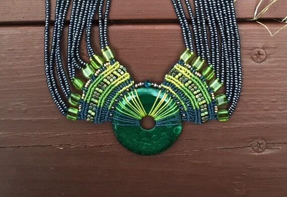 Malachite Multi Strand Necklace