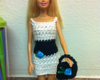 Barbie Dress, Barbie Purse, Purse, Dress, Doll Dress, Doll Purse