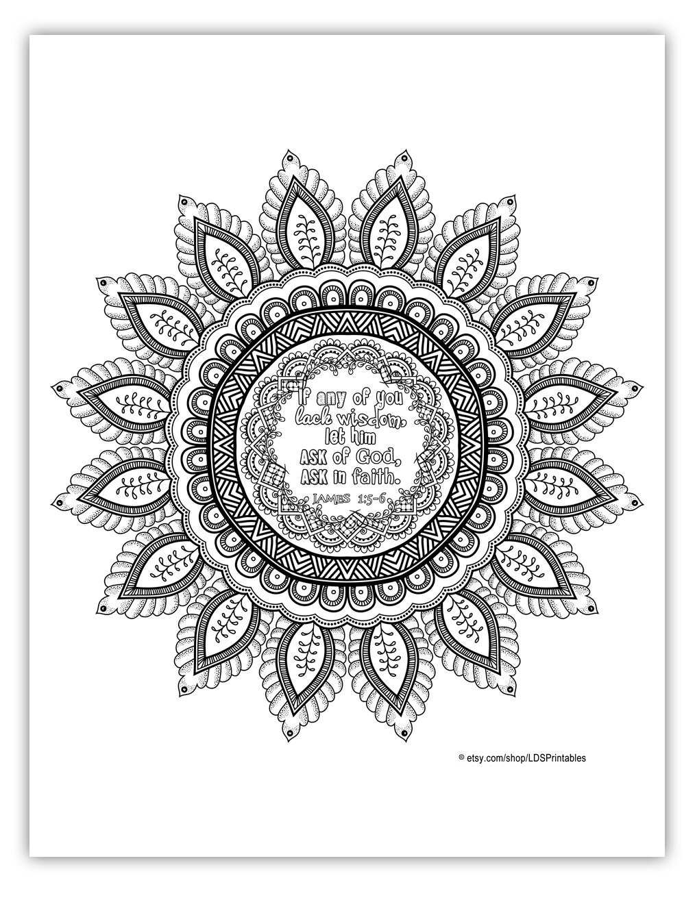 2017 mutual theme coloring page 8 5x11 mandala