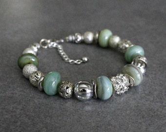 Green Bead Bracelet, Green Bracelet, Green Glass Bracelet, Blue Bead Bracelet, Blue Bracelet, Blue Glass Bracelet, Green Beaded Bracelet