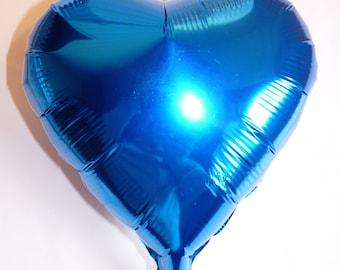 """Mylar Heart shaped balloon - 10"""" - blue"""