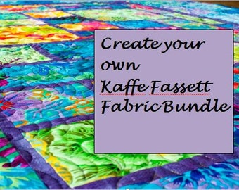 Create your own Kaffe Fassett Collective Fabric bundle.  Varies sizes available