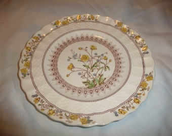 """Copeland Spode England Buttercup plate7 3/4"""" from estate,check my sales for many more pieces"""