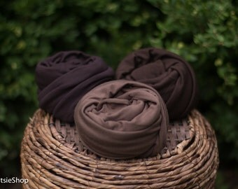 Jersey Knit Wrap, Newborn, Maternity Photo Session Prop, Chocolate Jersey Knit Wrap, Brown Jersey Wrap