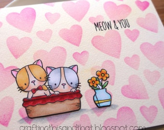 friendship card // all occasion card // cat card // card for friend // card for sister // card for boyfriend // card for wife