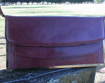 Vintage maroon bag, 1980's