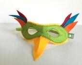 Paradiesvogel Maske, Filzmaske für Kinder, Papagei