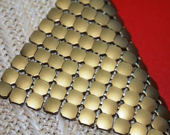 Clutch in eco cotton and cooper metal chain links