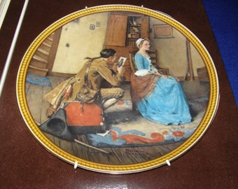 Knowles * Rockwell's Colonials Plate #4 Potrait For a Bridegroom