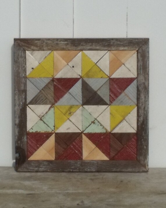 wooden barn star quilt block reclaimed wood by ...