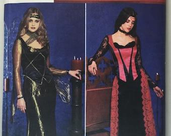 Simplicity 9255 Misses' Goth Princess Medieval Skirt, Top Pattern sizes 6,8,10,12 uncut