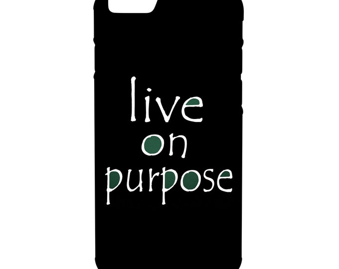 Live on Purpose iPhone Galaxy Note LG HTC Hybrid Rubber Protective Case