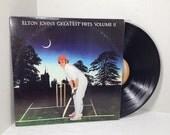 Elton John vintage vinyl record Greatest Hits Volume 2 LP album || 70's Classic Rock