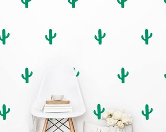 "3.5"" Cactus Wall Decals"