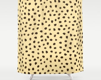 Animal Print Shower Curtain, Cheetah Print, Girls Shower Curtain, Girls Bathroom Decor, Tween Girls, Teen Girl Room Decor, Dorm Room Decor