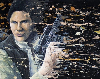 Han Solo, Chewbacca Painting