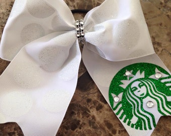 Made to Order Starbucks Inspired Cheerbow