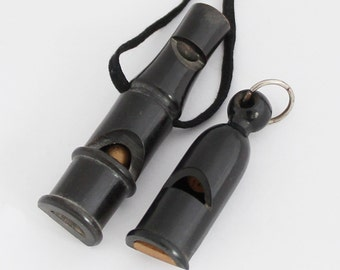 1920s Vintage French Hunting Whistles Lot