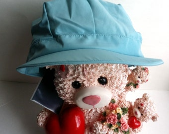 Beautiful Vintage TERRY LEWIS Classic Luxuries Unique Hard to Find Blue Cap Hat. NEW! Old Stock Very Well Stored.