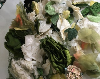 Lot of Vintage Millinery flowers, petals and leaves