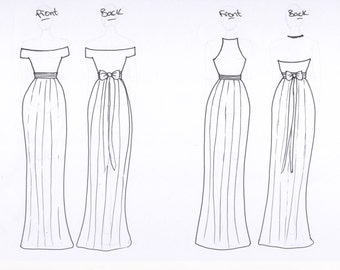 Leigh Willings Bridesmaids - custom gowns in different styles and colors