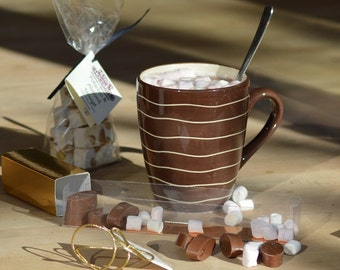 Hot Chocolate Set with Chocolate Bar & Marshmallows