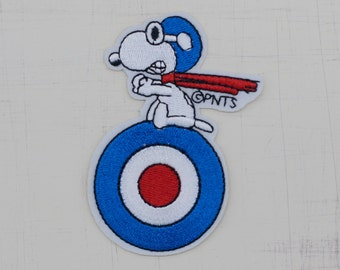 6 x 8.5 cm, Snoopy Flying Ace Iron On Patch (P-147)