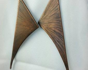 Winged Copper Earrings