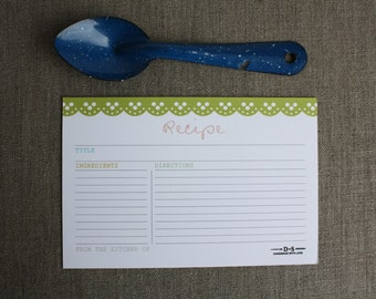 kitchen RECIPE cards set of 12  -  RC16S03
