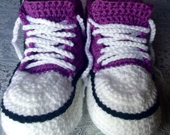 Crochet Slippers (converse style)